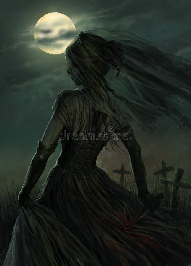 Spökebrud stock illustrationer