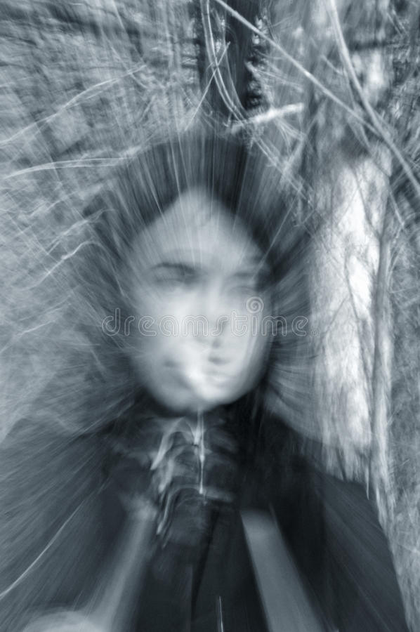 spökeflickastående arkivfoton