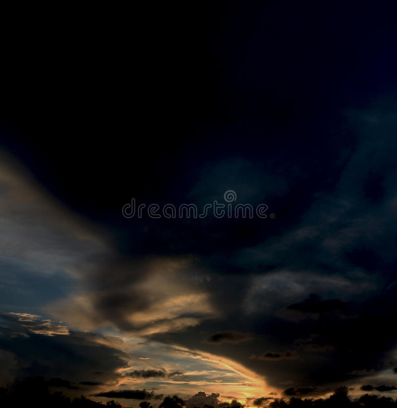 Spökeritt i himlen fotografering för bildbyråer