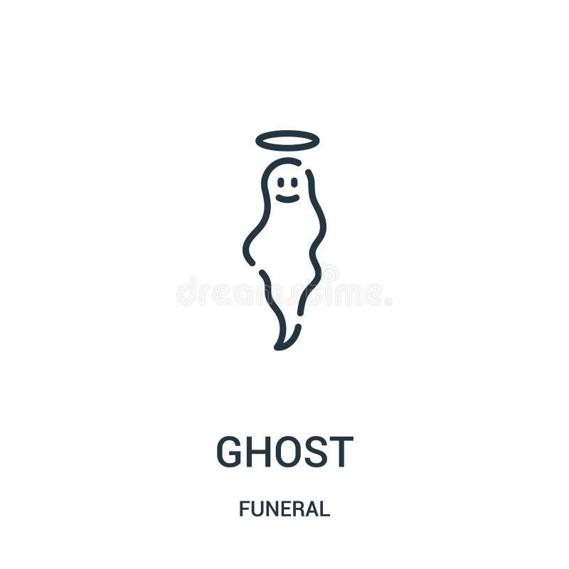 spökesymbolsvektor från begravnings- samling Tunn linje illustration för vektor för spökeöversiktssymbol Linjärt symbol för bruk  vektor illustrationer