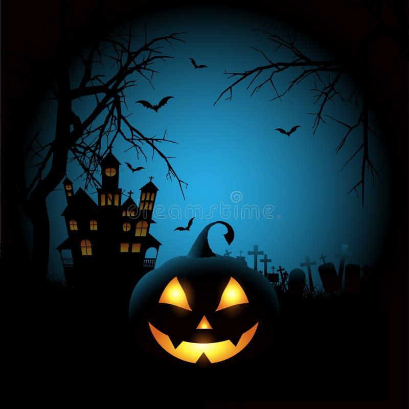 Spöklik halloween bakgrund vektor illustrationer