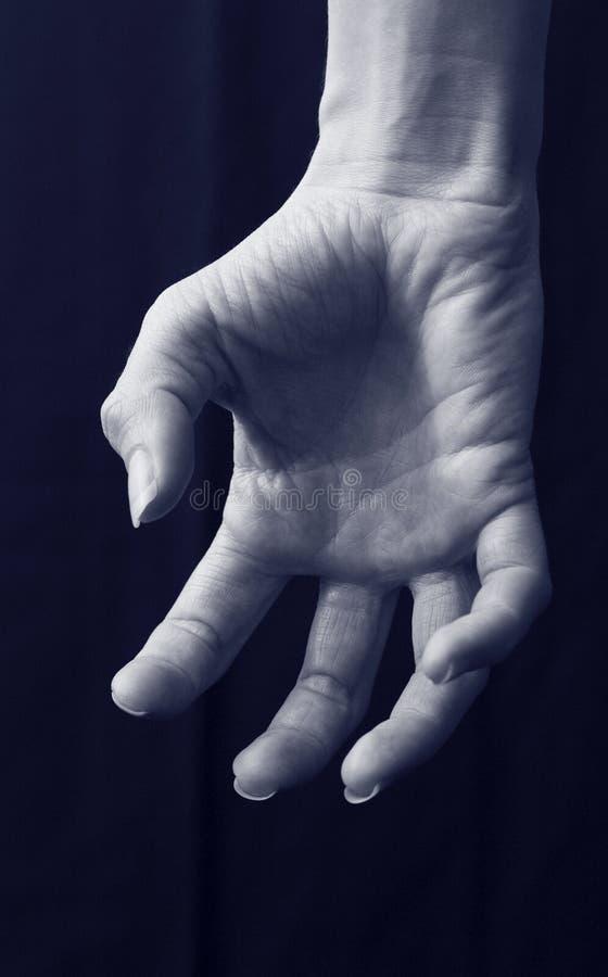 spöklik hand royaltyfri foto