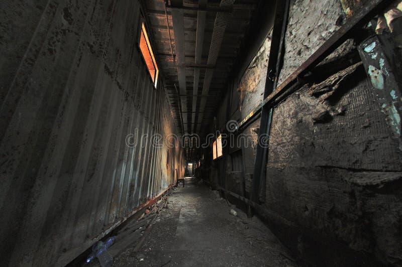 Spöklik korridor arkivfoton
