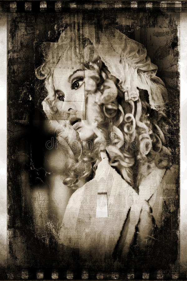 Spöklik skyltdocka arkivfoto
