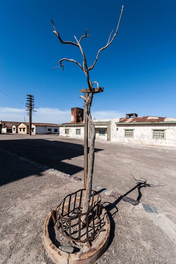 Spökstad Humberstone i Atacama, Chile royaltyfri foto