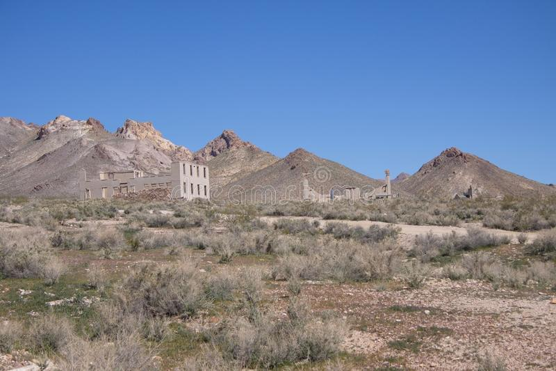 Spökstad Nevada öken arkivbild