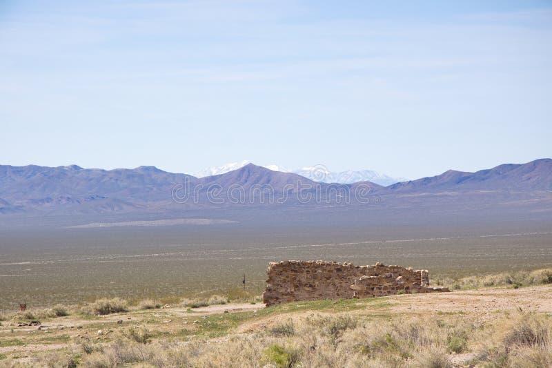 Spökstad Nevada öken fotografering för bildbyråer