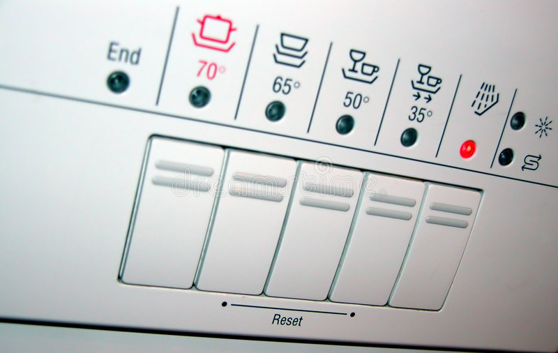 Spülmaschinepanel lizenzfreie stockfotos
