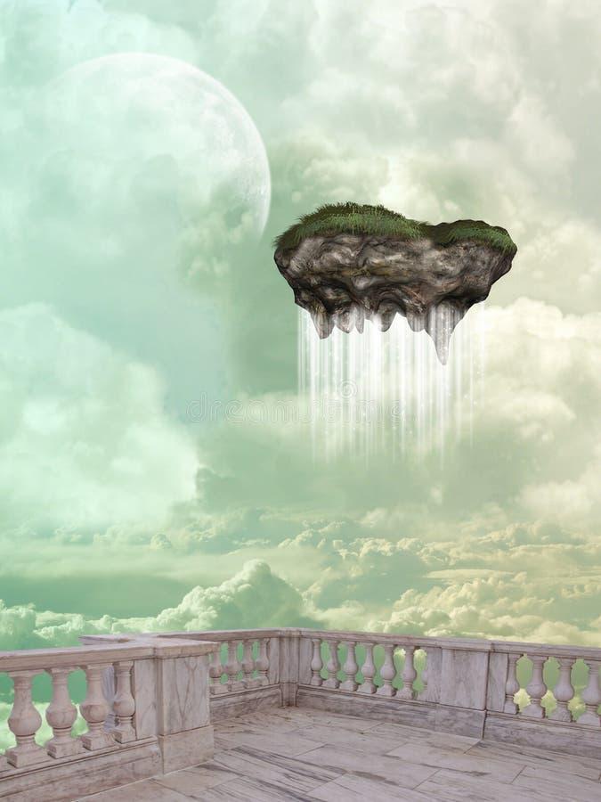 spławowa wyspa royalty ilustracja