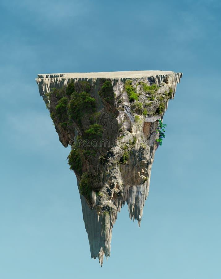 Spławowa wyspa zdjęcia stock