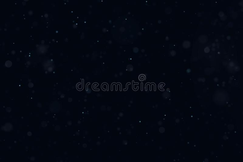Spławowego światła atmosferyczne cząsteczki odizolowywać na czarnej narzucie Maj używał na górze warstew w parawanowym trybie zdjęcie royalty free
