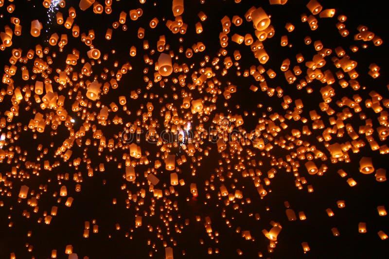 spławowi lampiony zdjęcie royalty free
