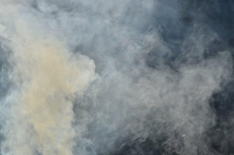 Spławowy gęsty bielu dym w zmroku fotografia royalty free