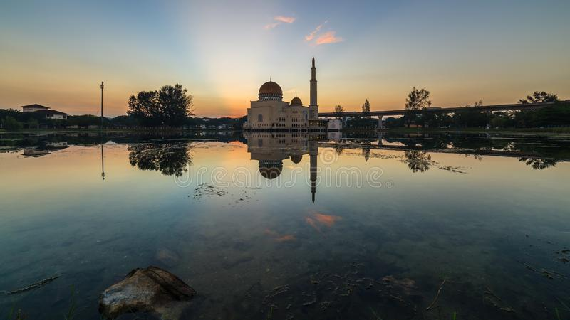 Spławowy meczet, Masjid Jako Salam, Puchong zdjęcie stock