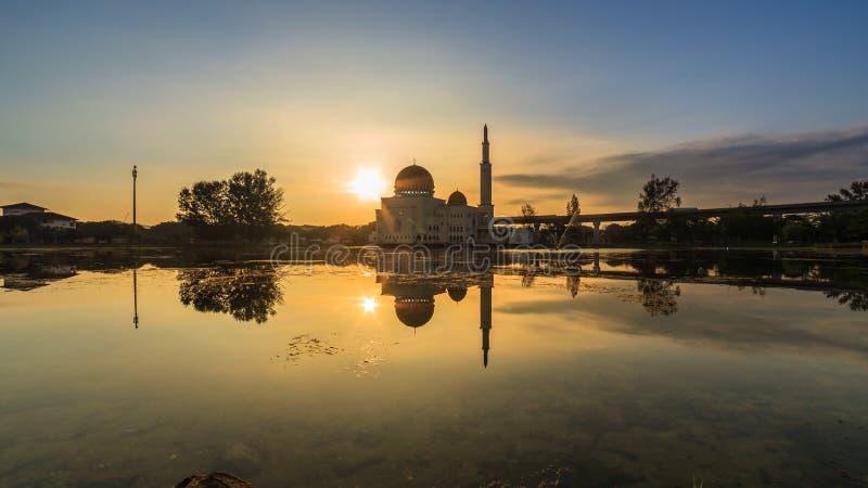 Spławowy meczet, Masjid Jako Salam, Puchong fotografia stock