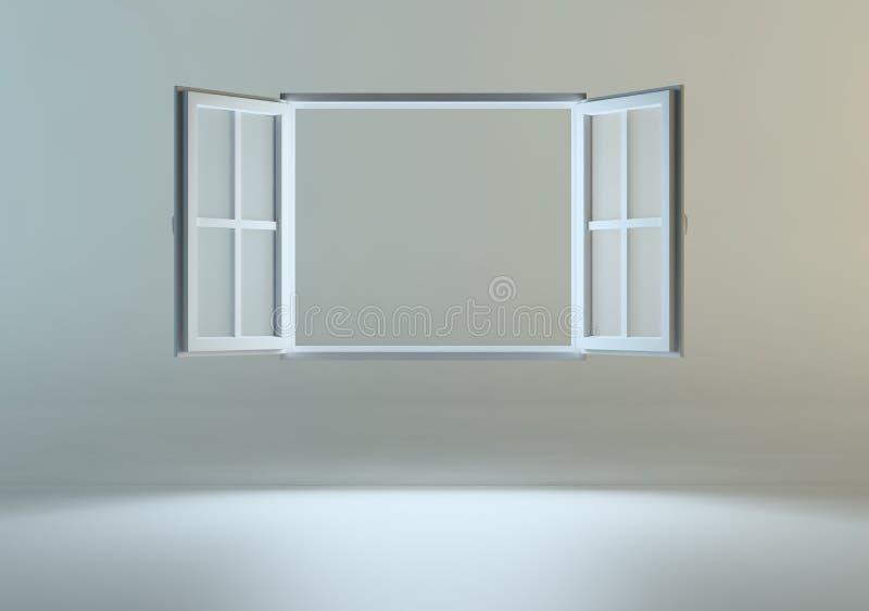 spławowy otwarte okno royalty ilustracja