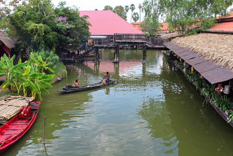 Spławowy rynek Ayutthaya zdjęcia royalty free