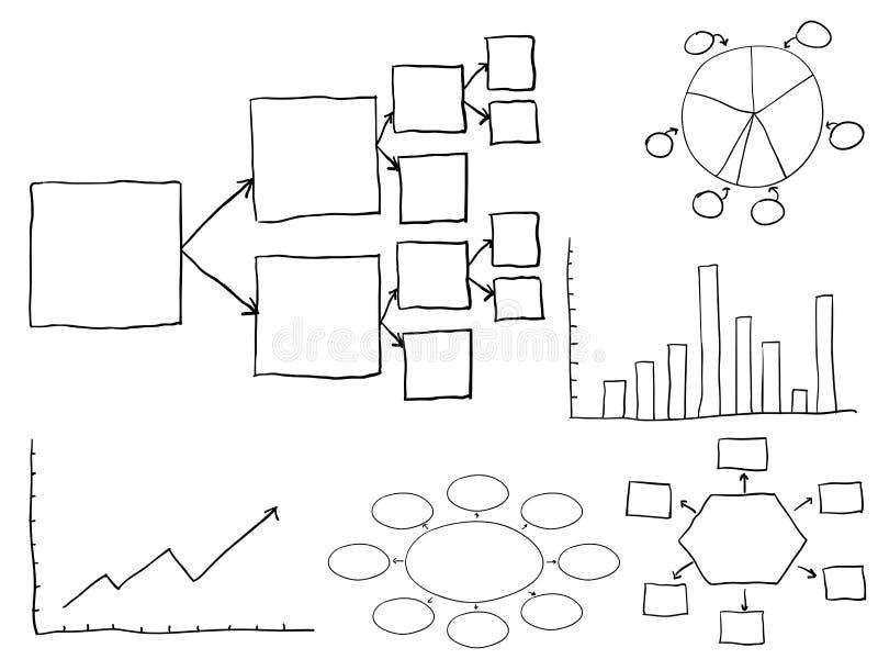 spływowe mapy ilustracji