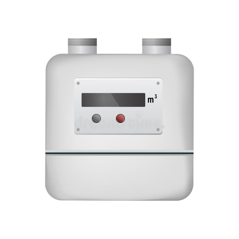 spływowego gazu pomiarowa metrowa natura ilustracja wektor