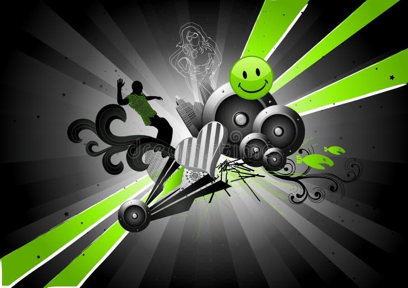 spływowy electro neon royalty ilustracja