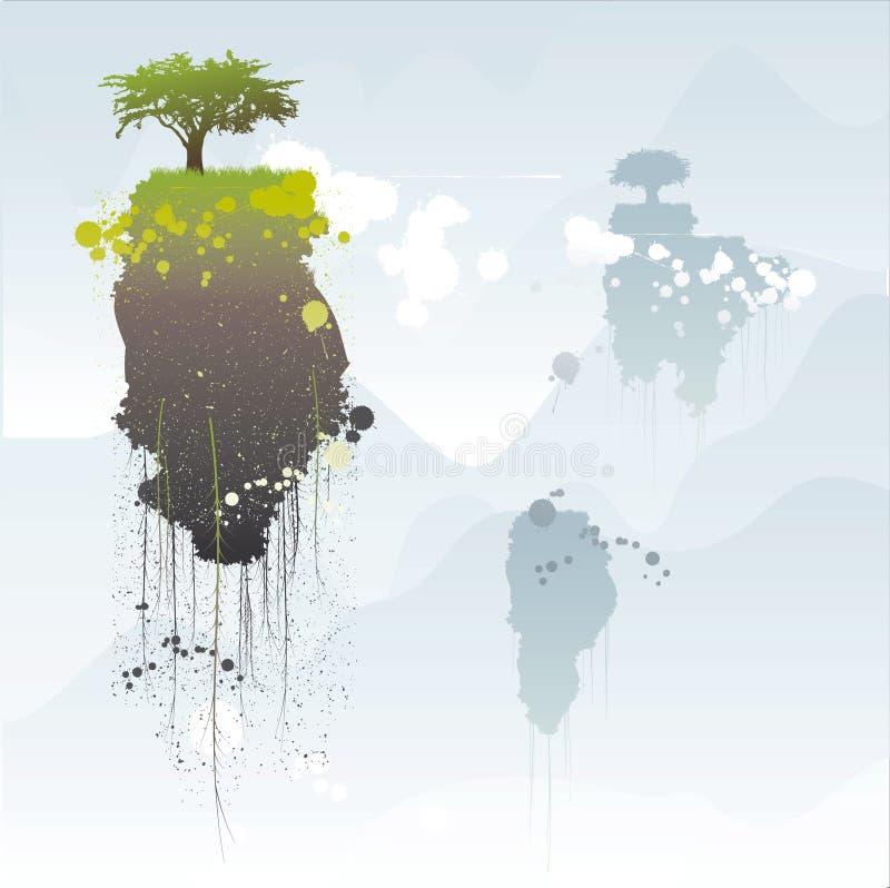 Download Spławowe wyspy ilustracja wektor. Ilustracja złożonej z grunge - 13337354