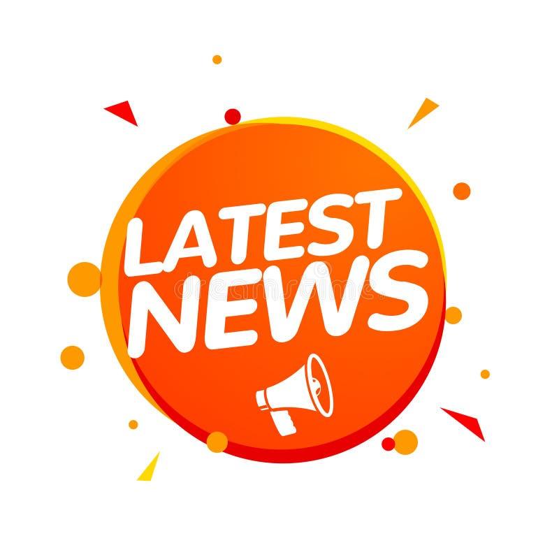 Sp?teste Nachrichten, die Bericht brechen Tageszeitung oder Nachrichtenreport-Fahnenikonenkonzept lizenzfreie abbildung