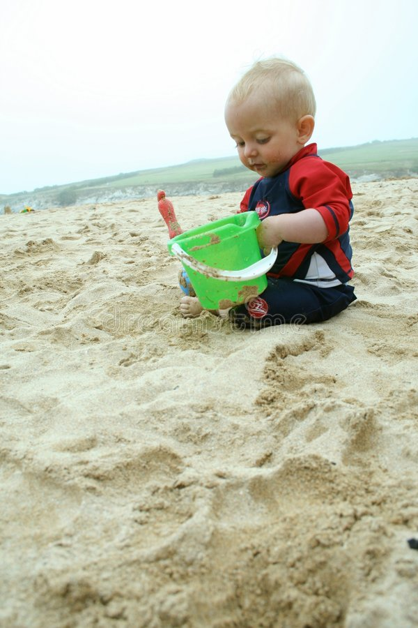 Spaß auf dem Strand stockfotografie