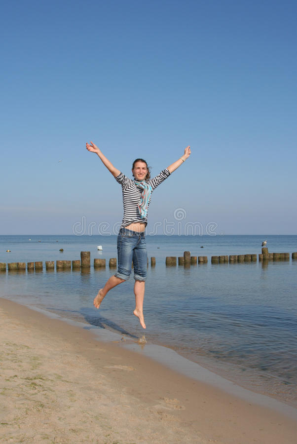 Spaß auf dem Strand stockbilder