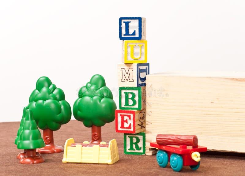 Spaß-Bauholz-Yard stockbild