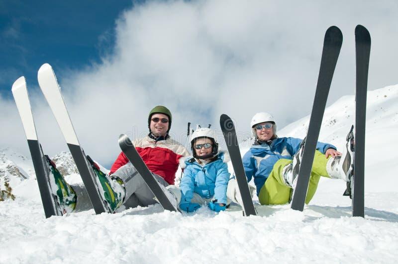 Spaß im Schnee lizenzfreie stockfotografie