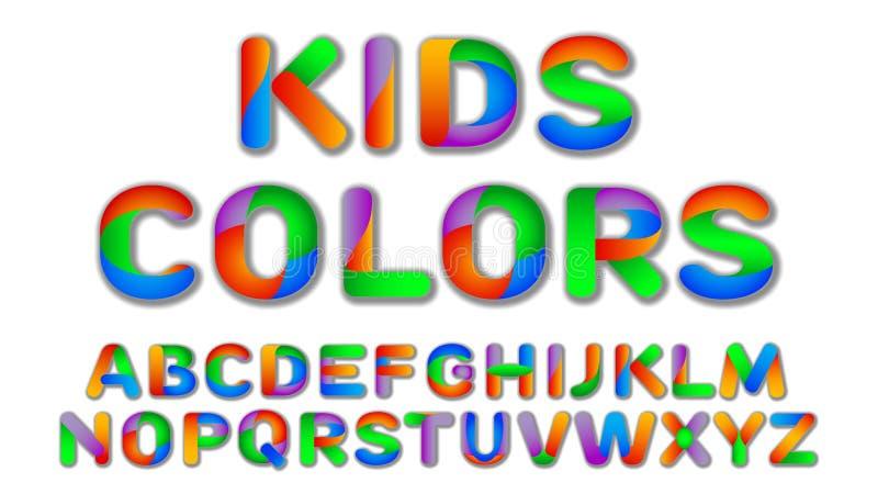 Spaß-multi Farbe scherzt kundenspezifischen Guss vektor abbildung