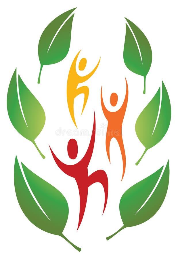 Spaß-Natur-Leute-Logo lizenzfreie abbildung