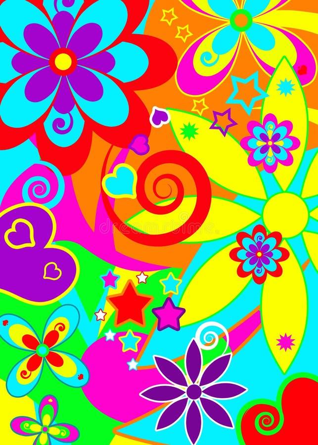 Spaß-psychedelischer flippiger Hintergrund stock abbildung