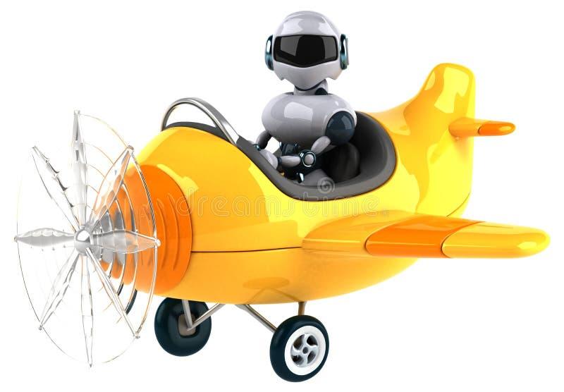 Spaß-Roboter lizenzfreie abbildung