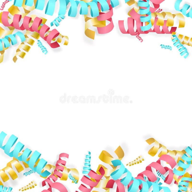 Spaßbunter Serpentinenhintergrund für Feiertag entwirft für Kinder, stock abbildung
