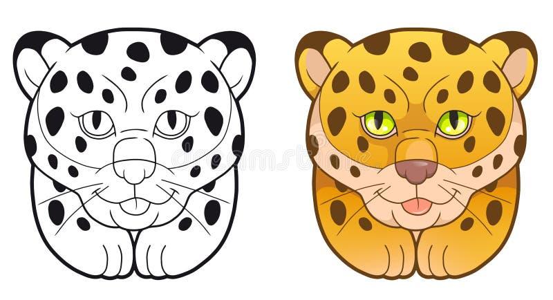 Spaßillustration, netter Leopard lizenzfreie abbildung