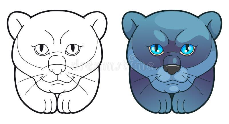Spaßillustration, netter Panther lizenzfreie abbildung