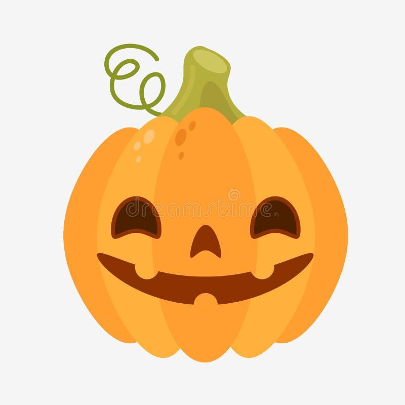 Spaßkürbisikone für Halloween vektor abbildung