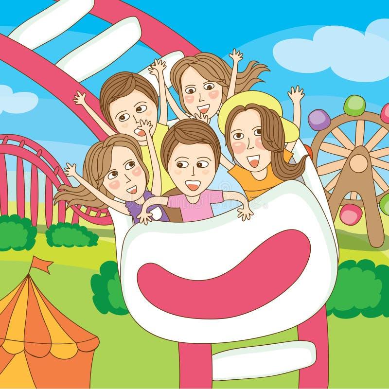 Spaßparkspiel mit der Gruppe lizenzfreie stockbilder