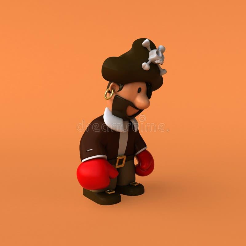 Spaßpirat - Illustration 3D lizenzfreie abbildung