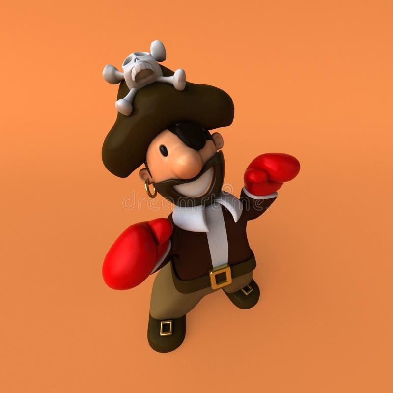 Spaßpirat - Illustration 3D stock abbildung