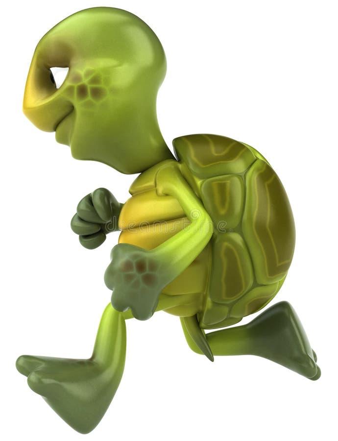 Spaßschildkrötebetrieb lizenzfreie abbildung