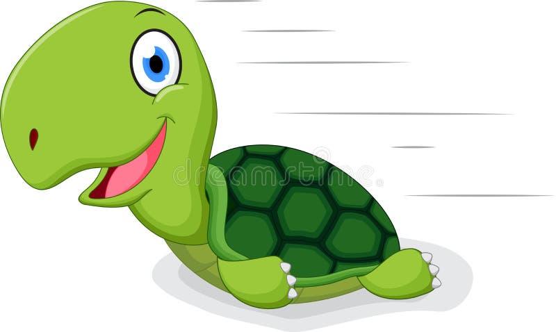 Spaßschildkrötenkarikatur vektor abbildung