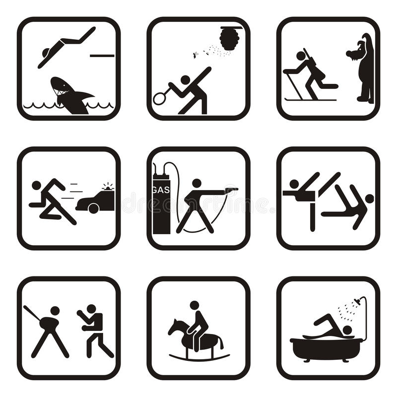 Spaßsportsymbole lizenzfreies stockbild