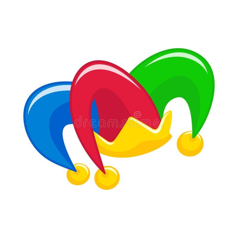 Spaßvogelhut mit Glocken lizenzfreie abbildung