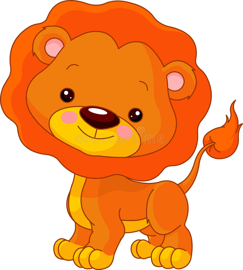 Spaßzoo. Löwe stock abbildung