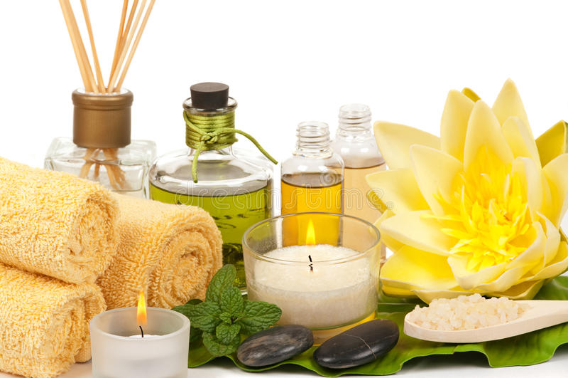 Download Spa stock photo. Image of cotton, spoon, essence, aromatherapy - 18003012