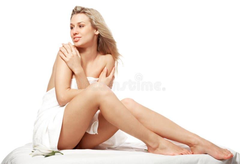 Spa. Beautiful lady in spa salon