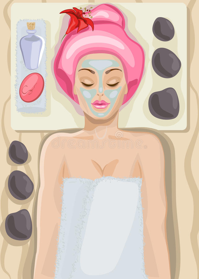 Spa stock illustration