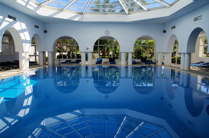 Spa. Beautiful swimming pool in a spa stock photography